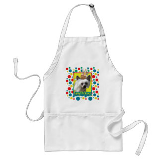 Birthday Cupcake - Chinese Crested - Kahlo Adult Apron