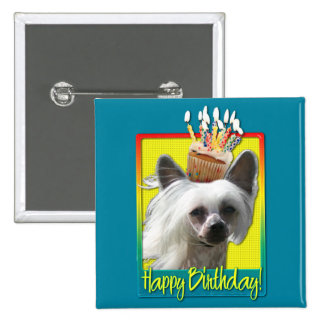 Birthday Cupcake - Chinese Crested - Kahlo Buttons