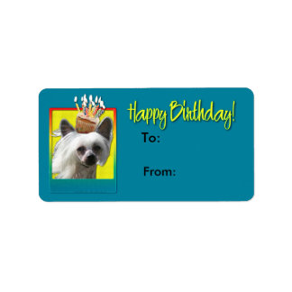 Birthday Cupcake - Chinese Crested - Kahlo Label