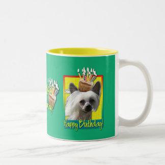 Birthday Cupcake - Chinese Crested - Kahlo Two-Tone Coffee Mug