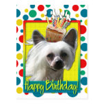Birthday Cupcake - Chinese Crested - Kahlo Post Card