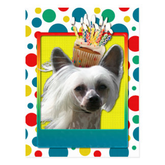 Birthday Cupcake - Chinese Crested - Kahlo Postcard