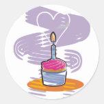 Birthday Cupcake Classic Round Sticker