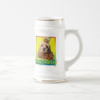Birthday Cupcake - Cocker Spaniel Beer Stein