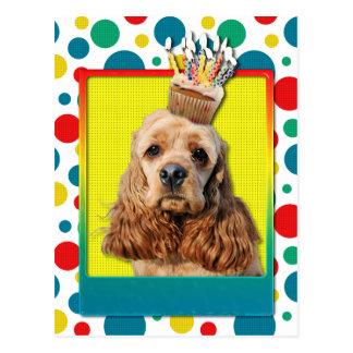 Birthday Cupcake - Cocker Spaniel Post Cards