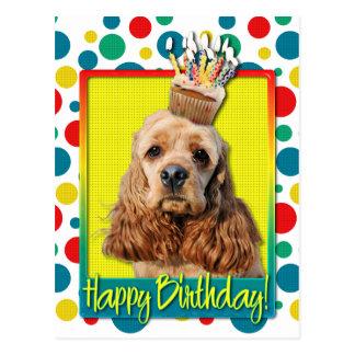 Birthday Cupcake - Cocker Spaniel Postcards