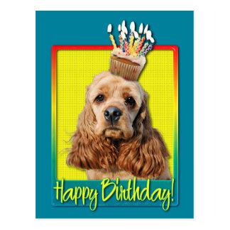Birthday Cupcake - Cocker Spaniel Post Card