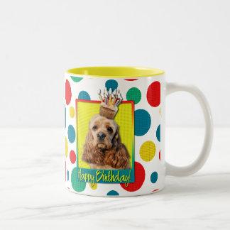 Birthday Cupcake - Cocker Spaniel Two-Tone Coffee Mug