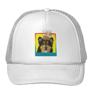 Birthday Cupcake - Collie - Caroline Trucker Hat