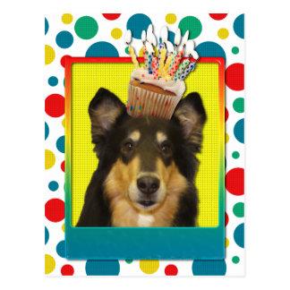 Birthday Cupcake - Collie - Caroline Postcard