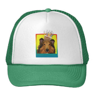 Birthday Cupcake - Collie - Natalie Trucker Hat