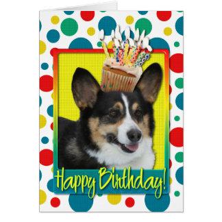 Birthday Cupcake - Corgi Card