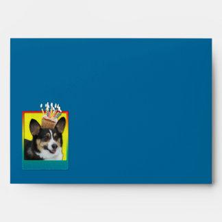 Birthday Cupcake - Corgi Envelope