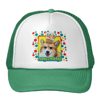 Birthday Cupcake - Corgi - Owen Trucker Hat