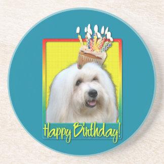 Birthday Cupcake - Coton de Tulear Beverage Coaster