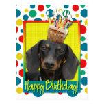 Birthday Cupcake - Dachshund - Winston Post Card