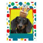 Birthday Cupcake - Dachshund - Winston Post Cards