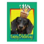 Birthday Cupcake - Dachshund - Winston Postcards
