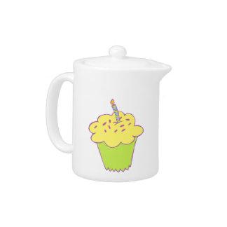 Birthday cupcake design teapot