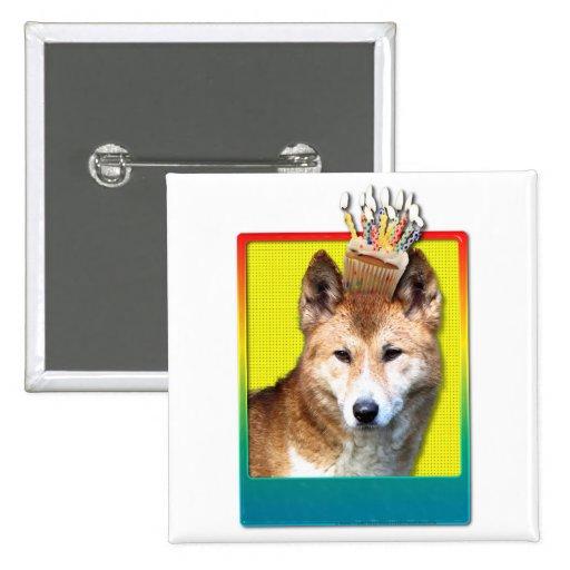 Birthday Cupcake - Dingo 2 Inch Square Button