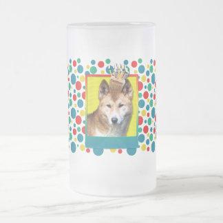 Birthday Cupcake - Dingo Frosted Glass Beer Mug