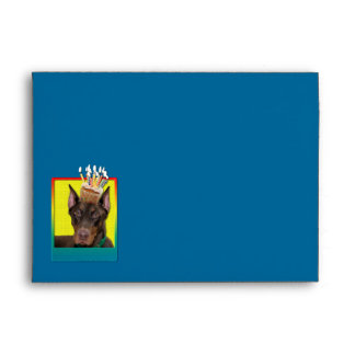 Birthday Cupcake - Doberman - Red - Rocky Envelopes