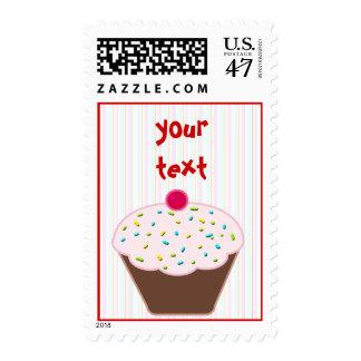 Birthday Cupcake -dotty Postage