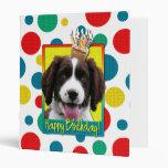 Birthday Cupcake -English Springer Spaniel -Baxter Vinyl Binders