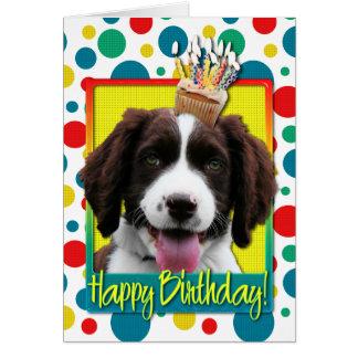Birthday Cupcake -English Springer Spaniel -Baxter Greeting Cards