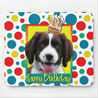 Birthday Cupcake -English Springer Spaniel -Baxter Mouse Pad