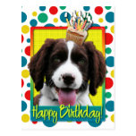 Birthday Cupcake -English Springer Spaniel -Baxter Postcard
