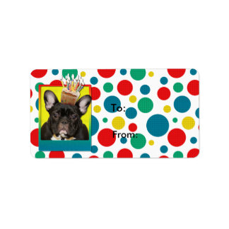 Birthday Cupcake - French Bulldog - Teal Label