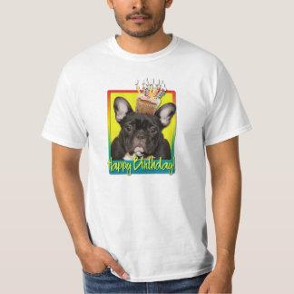Birthday Cupcake - French Bulldog - Teal Shirt