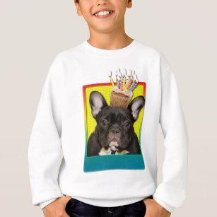 Birthday Cupcake - French Bulldog - Teal Sweatshirt