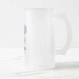 Birthday Cupcake Frosted Glass Beer Mug