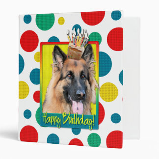 Birthday Cupcake - German Shepherd - Chance Binder