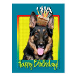 Birthday Cupcake - German Shepherd - Kuno Post Cards