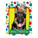 Birthday Cupcake - German Shepherd - Kuno Postcards