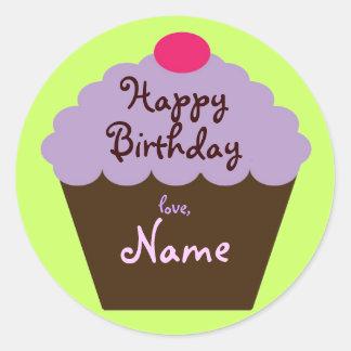 Birthday Cupcake Gift Sticker