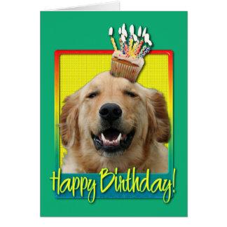 Birthday Cupcake - Golden Retriever - Mickey Cards