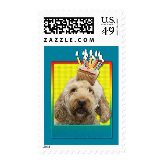 Birthday Cupcake - GoldenDoodle Stamps