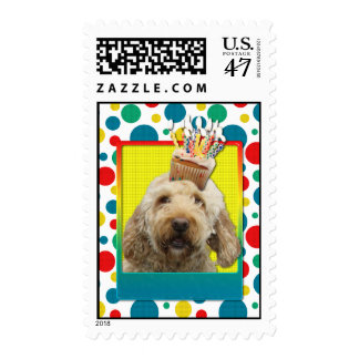 Birthday Cupcake - GoldenDoodle Postage