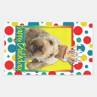 Birthday Cupcake - GoldenDoodle Rectangular Sticker