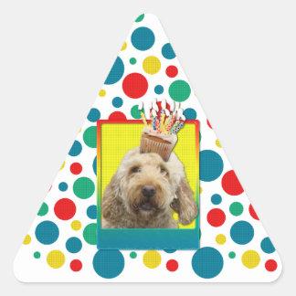Birthday Cupcake - GoldenDoodle Sticker