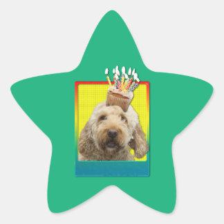 Birthday Cupcake - GoldenDoodle Star Sticker
