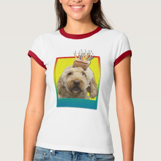 Birthday Cupcake - GoldenDoodle T-Shirt