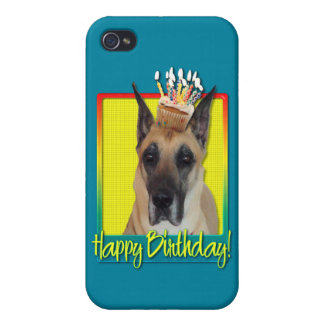 Birthday Cupcake - Great Dane Cover For iPhone 4