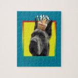 Birthday Cupcake - Great Dane - Grey Jigsaw Puzzle
