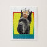 Birthday Cupcake - Great Dane - Grey Puzzles