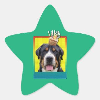 Birthday Cupcake - Greater Swiss Mountain Dog Star Sticker